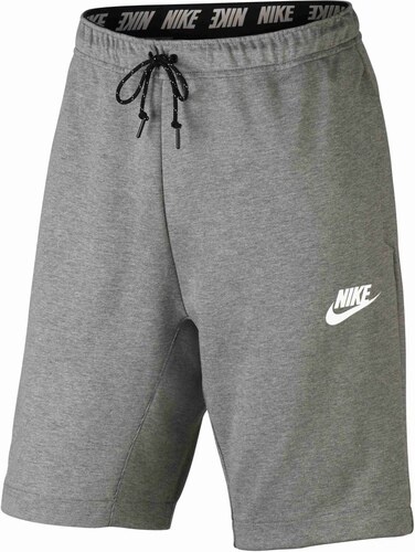 Pánské kraťasy Nike M NSW AV15 FLC SHORT DK GREY HEATHER BLACK WHITE ... 98cf5bba95