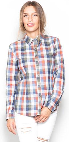 1b22e8bb4293 Katrus Viacfarebná károvaná košeľa K241 - Glami.sk