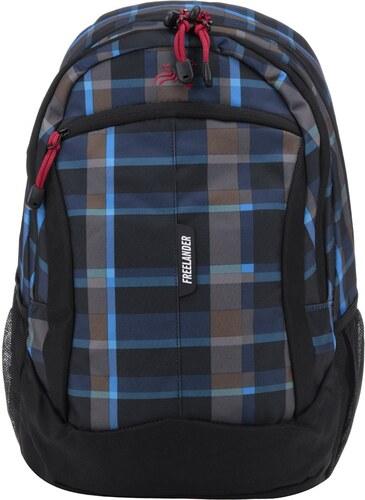 c446382bf7 Černý klučičí kostkovaný batoh Freelander Multi Compartment 30 l ...