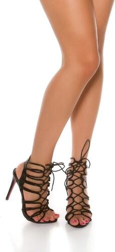 a3996ac2c67d In-Style Letné vysoké sandále so šnurovaním - Glami.sk