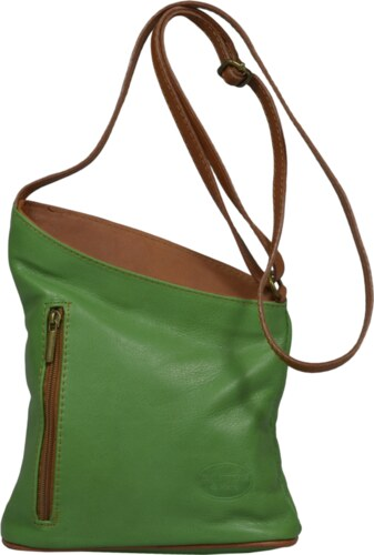 a230a40060 Pelletteria Di Mario Talianská kožená kabelka Angola Verde Camel ...