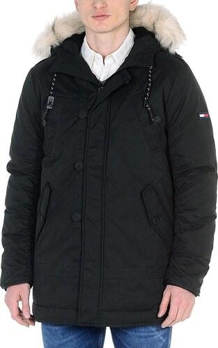 Tommy Hilfiger pánská černá bunda s kapucí - Glami.sk 32577b41cd3