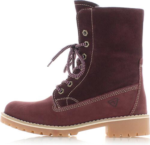 a230f4d76b04 Bordové kožené topánky Tamaris 26443 - Glami.sk
