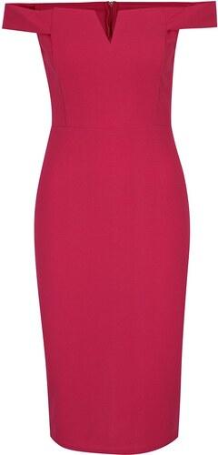 9a97df7b11f4 Ružové puzdrové šaty s odhalenými ramenami AX Paris - Glami.sk