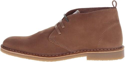 Hnedé kožené členkové topánky Selected Homme Royce - Glami.sk f06074bc47c