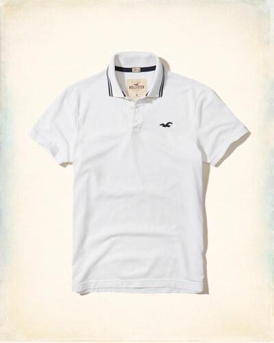 Hollister Co. Pánské triko Hollister luxusní Polo bílé - Glami.cz db4042b2b6