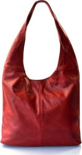 Kožená červená bordó taška na rameno feris VERA PELLE 26315 - Glami.cz 716aedeafcf