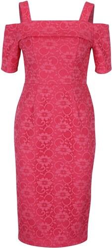 1193850b4 Růžové krajkové pouzdrové šaty Dorothy Perkins - Glami.cz