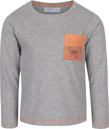 061aea737180 Oranžovo-sivé dievčenské tričko s dlhým rukávom 5.10.15. - Glami.sk