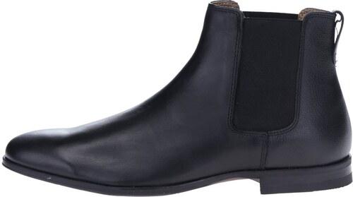 5502f430d Čierne kožené chelsea topánky Burton Menswear London - Glami.sk