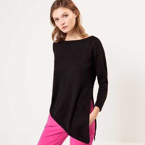 6addcc0fc9dd Mohito - Asymetrický sveter s trblietavou niťou - Čierna