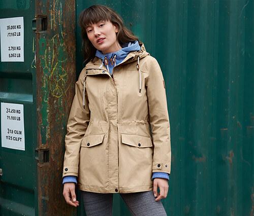 cd33a4a595 Tchibo Női funkcionális parka kabát, bézs - Glami.hu