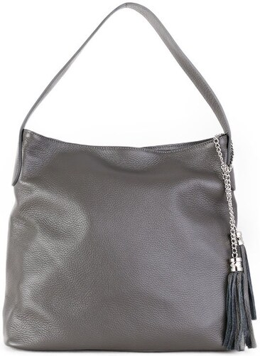 -20% TALIANSKE Talianska kožené kabelky cez plece Talianska Fabiola sivá f7d1d857985