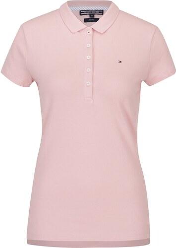 Ružové dámske polo tričko Tommy Hilfiger New Chiara - Glami.sk ddba24bd0a