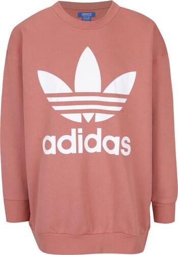 Růžová pánská mikina adidas Originals - Glami.cz 32d89da982
