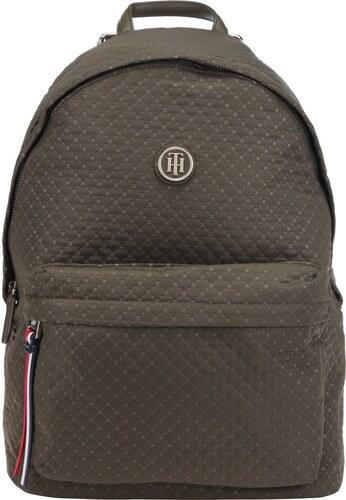 Zelený dámský batoh s jemným vzorem Tommy Hilfiger Poppy Quilted ... 566d29442b