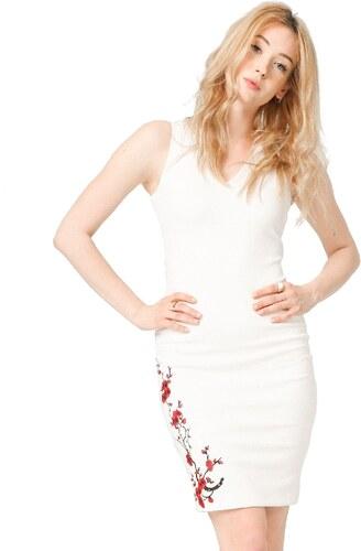 74eb5f352744 Dámske šaty Fontana 2.0 TAZIANA - biele s kvetmi - Glami.sk