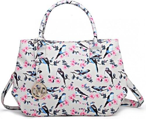 787e013f87 Lulu Bags (Anglie) Nadčasová béžová kabelka s vtáčikmi Miss Lulu ...