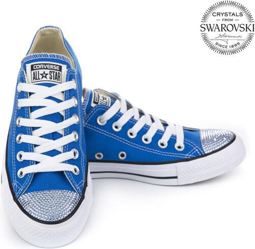 Converse Swarovski Low blue ZĽAVA - Glami.sk 1eae20f8314