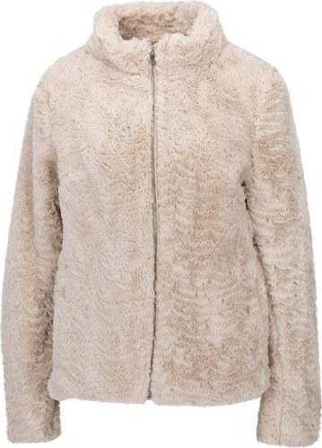 f93470eb3c1e Béžová bunda z umelej kožušiny Dorothy Perkins - Glami.sk