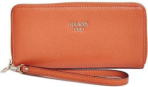 GUESS peňaženka Cate Zip-Around oranžová afffaeae0d2