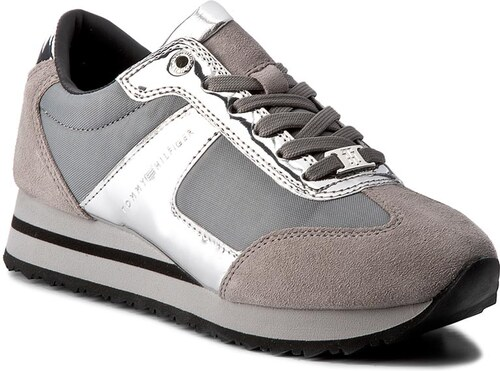 9bcf40caf7c680 Sneakers TOMMY HILFIGER - Angel 2C1 FW0FW01894 Light Grey 023 - Glami.de