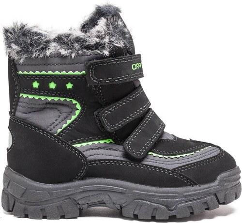 ALPINE PRO Chlapčenské zimné topánky Chrono - čierno-zelené - Glami.sk a78c70479e8