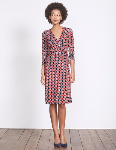 Jerseykleid in wickeloptik red damen boden for Bodendirect sale