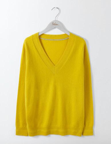 L ssiger kaschmirpullover mit v ausschnitt yellow damen for Bodendirect sale