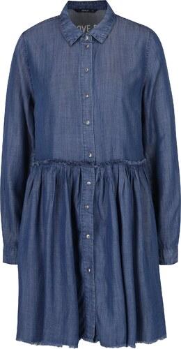 Tmavomodré rifľové košeľové šaty ONLY Tess - Glami.sk 49916351364
