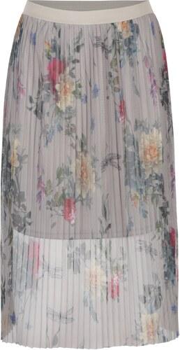 cedd85ae1252 Sivá tylová plisovaná kvetovaná sukňa ONLY Nanna - Glami.sk