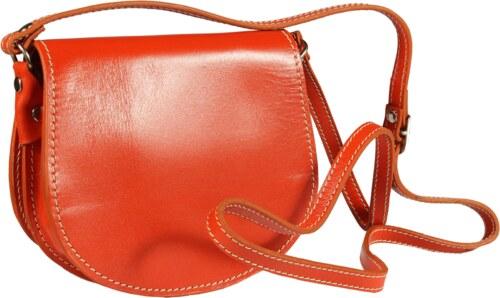 NovaKabelka.sk Oranžová kožená kabelka z Talianska Mina Arancione ... c5397e0e625