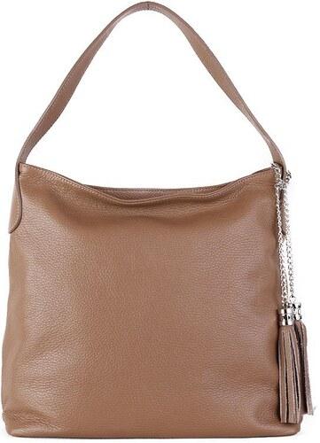 4ed54c7af1 -10% TALIANSKE Talianska kožené kabelky cez rameno Talianska taupe Fabiola