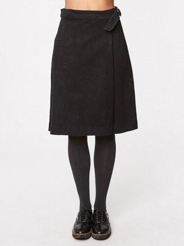 Thought (dříve Braintree) SONIA dámská zavinovací sukně z biobavlny - tmavě  šedá uhlová 600edc0d3c