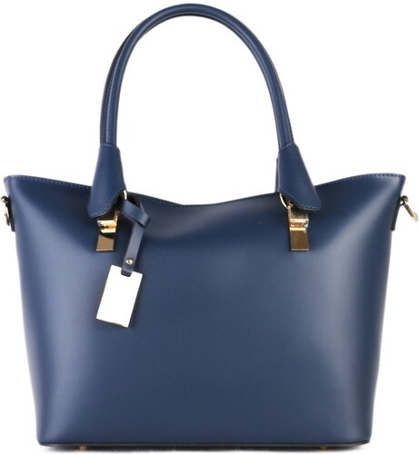 Kožené kabelky cez rameno Borsa di Pelle Talianske modré Diamanta ... e295c2e5b56