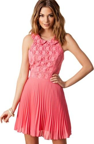 Levné růžové šifón šaty - Glami.cz 6f16af9586