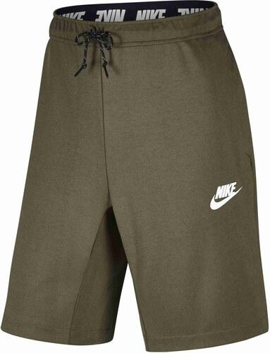 Pánské kraťasy Nike M NSW AV15 FLC SHORT MEDIUM OLIVE BLACK WHITE ... 354f635dd2
