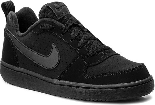 Cipő NIKE - Court Borough Low (GS) 839985 001 Black Black Black ... 9bd3a26216