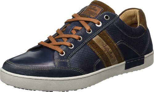 Australian Lombardo Leather, Baskets Homme, Mehrfarbig (Blue-Tan-Grey), 44 EU