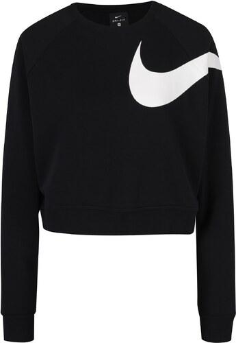 Černá dámská volná krátká funkční mikina s potiskem Nike - Glami.cz b831807607