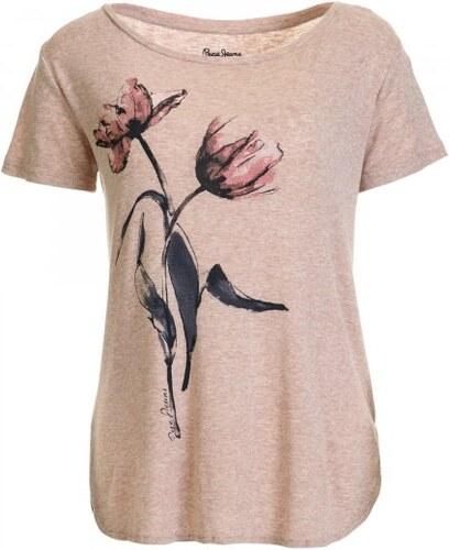 Pepe Jeans dámské tričko Bettie L růžová - Glami.cz e995cd255b