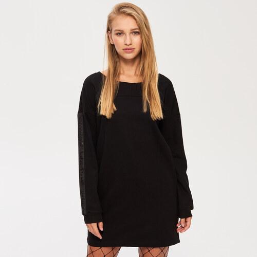 Sinsay - Teplákové šaty s vreckami - Čierna - Glami.sk aa159bec0c9