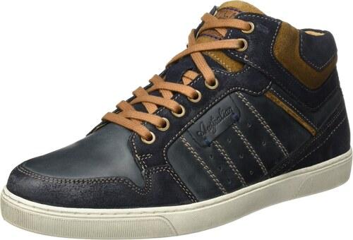 Australian Kensington Leather, Baskets Hautes Homme, Mehrfarbig (Blue-Tan-Off blanc), 44 EU