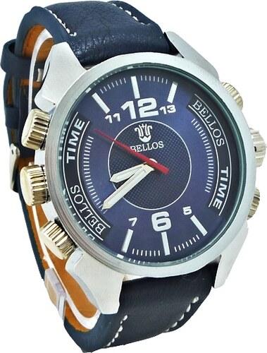 Pánské hodinky BELLOS Purely modré 116P - Glami.cz 0928602c86