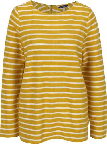 Žlutý pruhovaný dámský svetr se zipem Tom Joule Caroline - Glami.cz 53897412a6