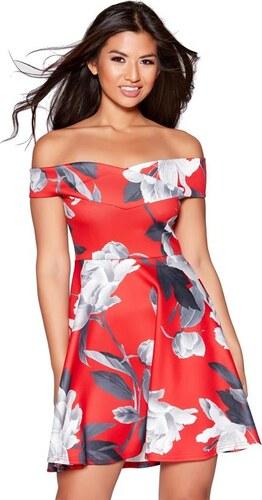 c7e7ee6e713b QUIZ Červené kvetinové šaty v korčuliarskom štýle - Glami.sk