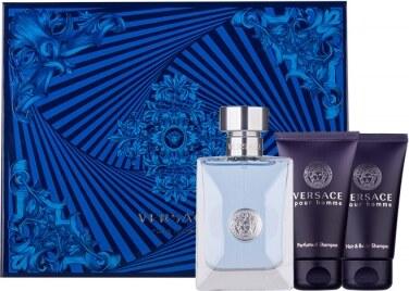 Versace Pour Homme dárková kazeta pro muže toaletní voda 50ml + sprchový  gel 50 ml + šampon 50 ml 4b02f5c8125