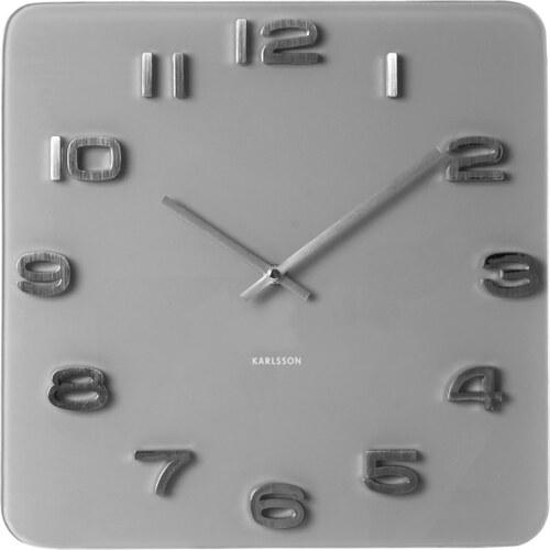 a88b2ee16ee KARLSSON Nástěnné hodiny Vintage šedé - Glami.cz