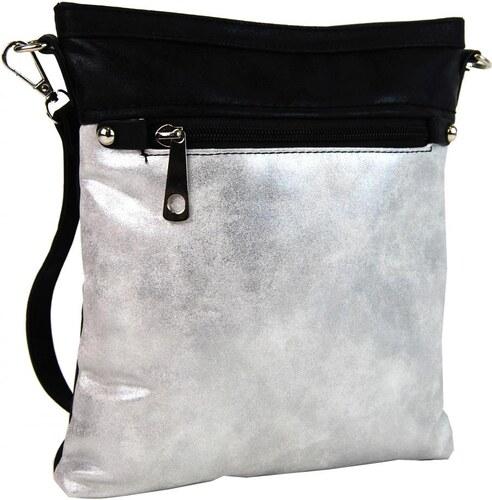 11b04d7f25 Tapple Elegantná malá dámska crossbody kabelka 16174 čierno-strieborná