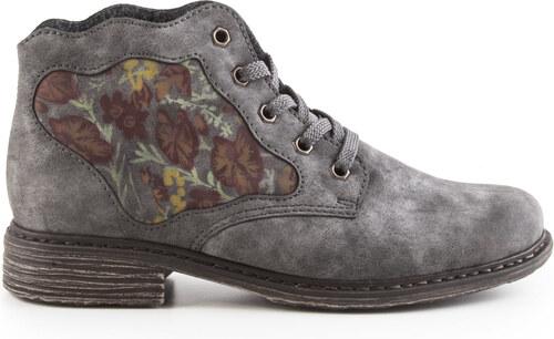 9dbdb4b25c00 Rieker - Dámské kotníkové zateplené boty šíře G L2133-45   šedá ...